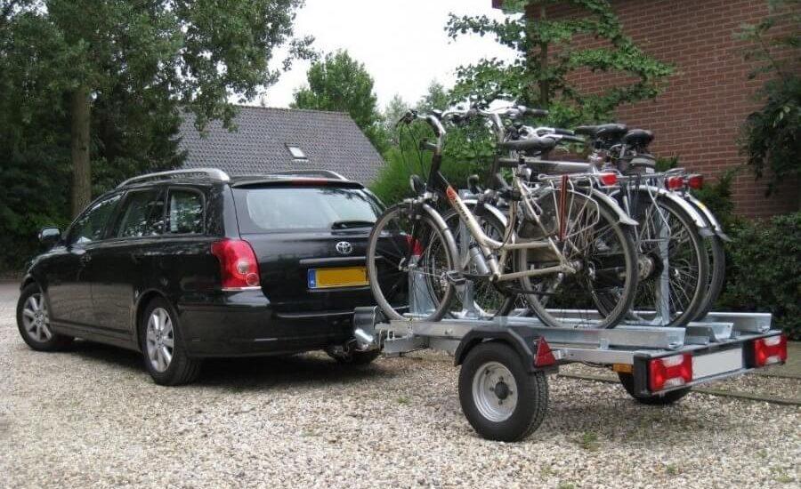 Fietsentrailer 4 fietsen